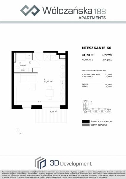 Mieszkanie 2M60