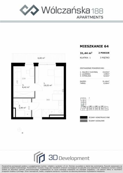 Mieszkanie 3M64