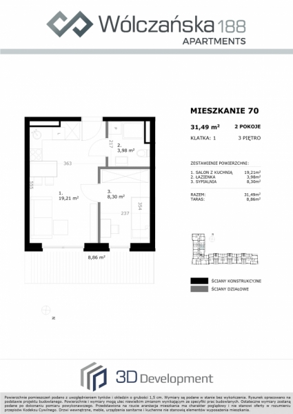 Mieszkanie 3M70